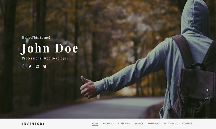 Inventory Blogger Template