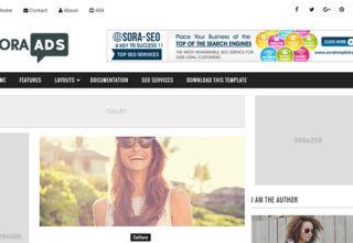 Sora Ads Blogger Template