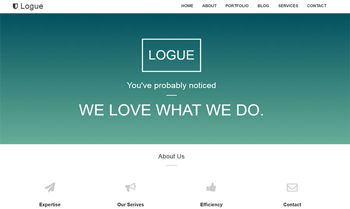 Logue Blogger Template