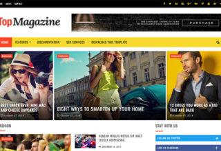 Top Magazine Blogger Template