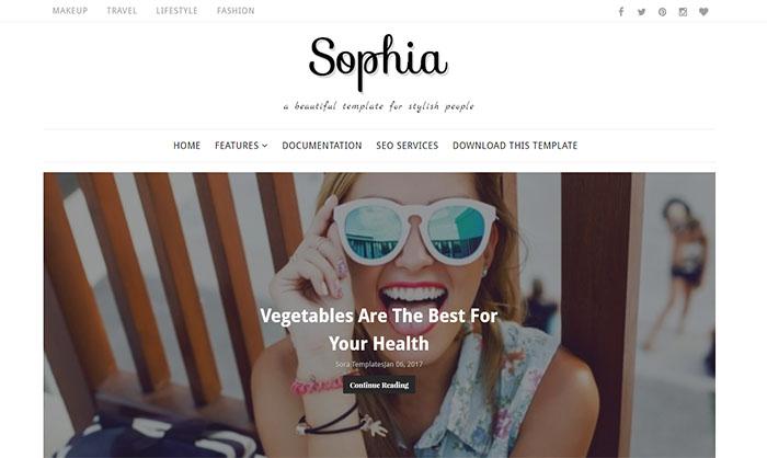Sophia Blogger Template