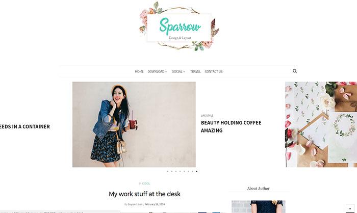 Sparrow Blogger Template
