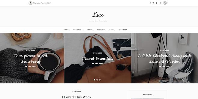 Lex Blogger Template