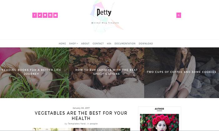 Petty Blogger Template