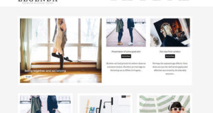 Legenda Blogger Template