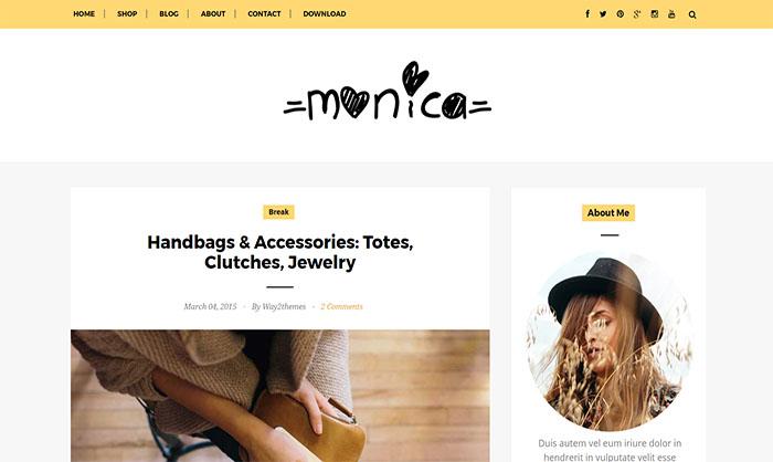 Monica Blogger Template
