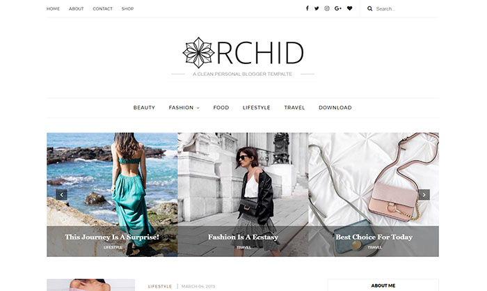 Orchid Blogger Template