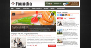 Foundia Blogger Template