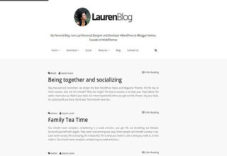 Lauren Blogger Template
