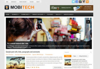 MobiTech Blogger Template