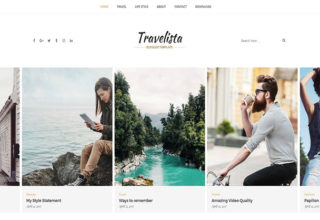 Travelista Blogger Template