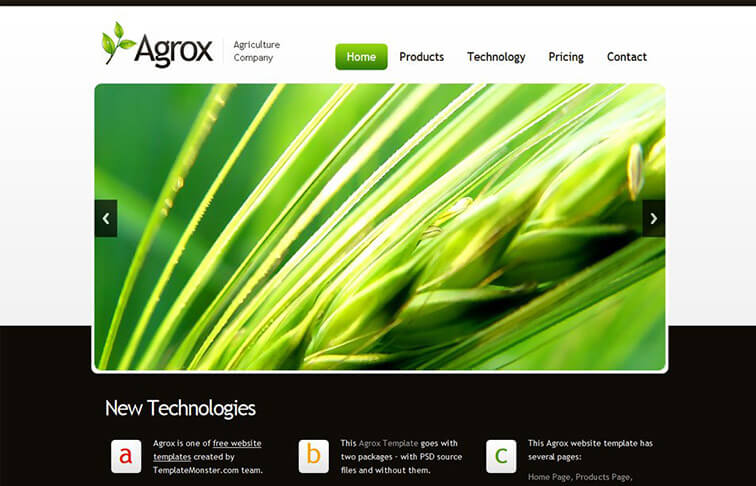 Agrox HTML5 CSS3