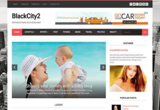 BlackCity 2 Blogger Template