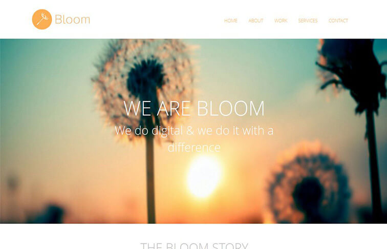 Bloom Website Template