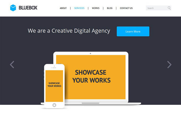Bluebox CSS3 Website Template