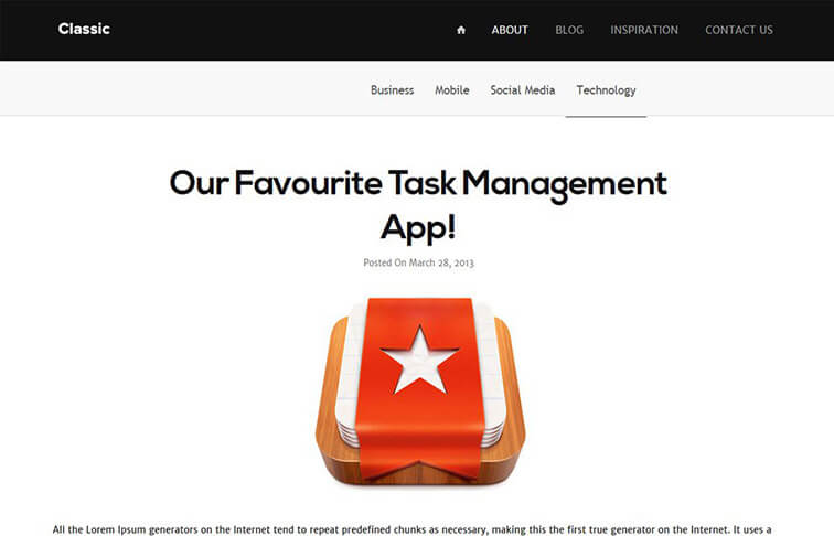 Classic Best Free Responsive HTML5