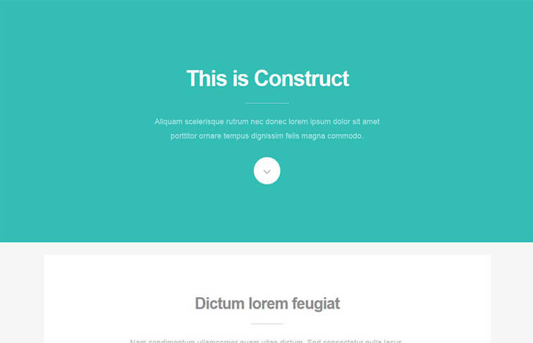 Construct Free Responsive HTML5 CSS3