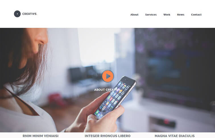 Creativs HTML5 CSS3 Website