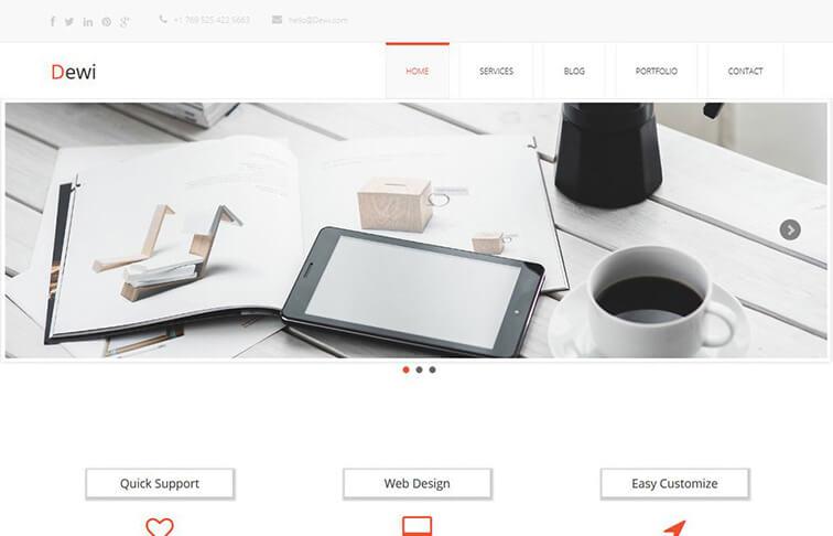 Dewi HTML5 CSS3 Website