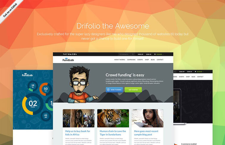 Drifolio Responsive HTML5