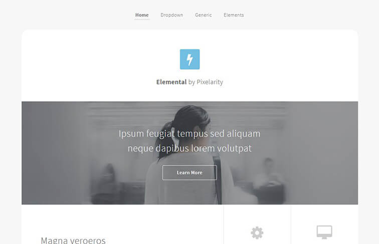 Elemental Free Responsive HTML5 CSS3