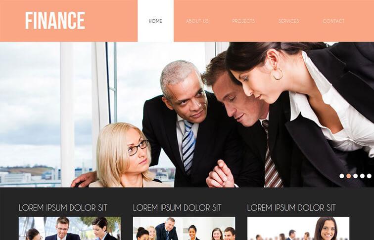 Finance Responsive HTML5