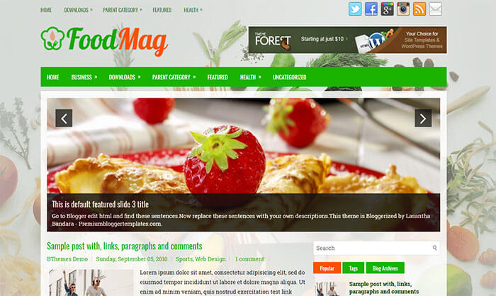 FoodMag Blogger Template