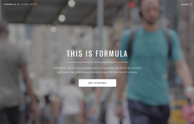 Formula HTML5 CSS3 Website