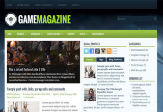 GameMagazine Blogger Template