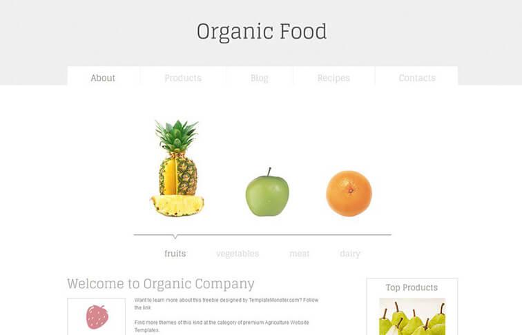Organic Best Free Responsive HTML5