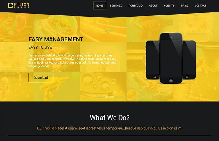 Pluton HTML5 CSS3
