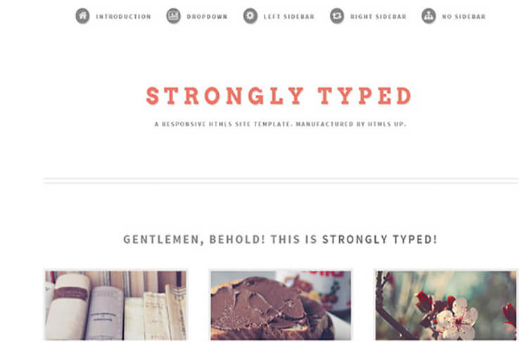 Strongly CSS3 Website Template