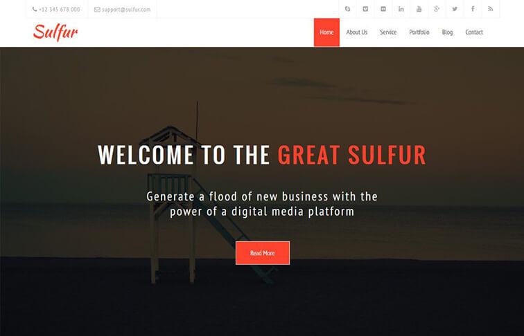 Sulfur HTML5 CSS3 Website