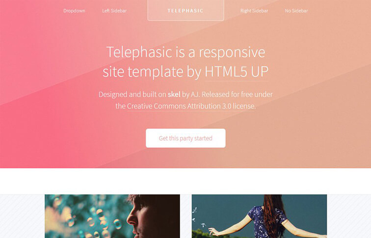 Telephasic HTML5 CSS3