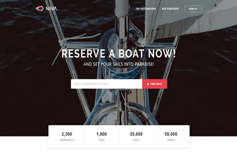 nava Free Responsive HTML5