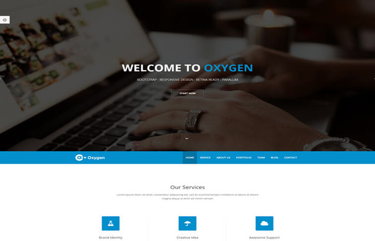 oxygen CSS3 Website Template