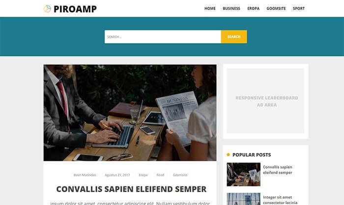 Piroamp Blogger Template
