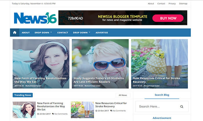 News16 Blogger Template