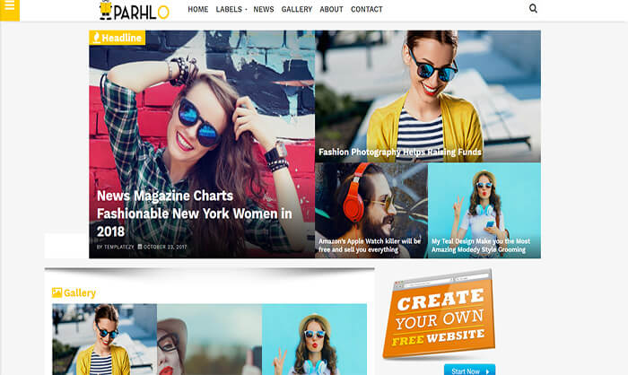 Parhlo Blogger Template