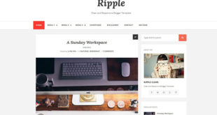 Ripple Mag Blogger Template