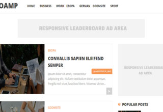 SEO AMP Blogger Template