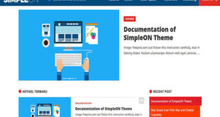 Simpleon Blogger Template