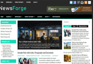 News Blogger Templates 2018 Free Download