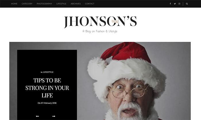 Jhonsons Blogger Template