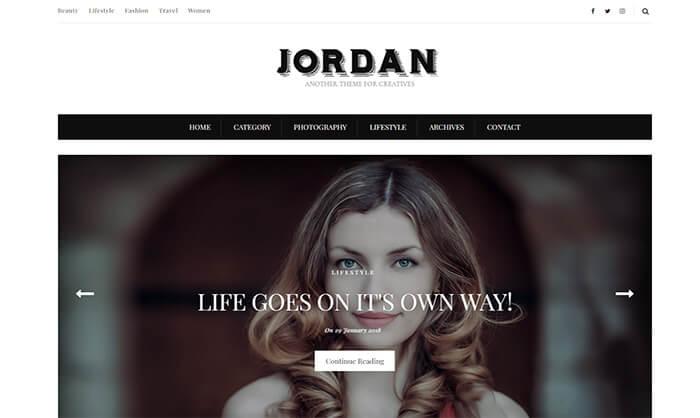 Jordan Blogger Template