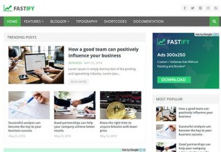 Fastify Blogger Template