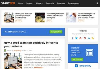 STARTSEO Blogger Template